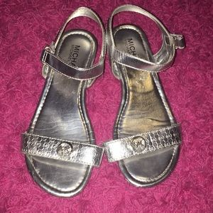 Silver small wedge sandal Michael Kors